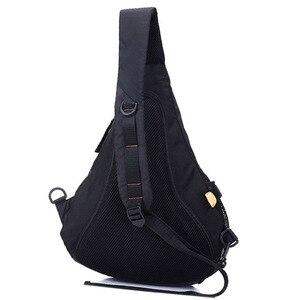 Image 2 - Waterproof Nylon Men Single Shoulder Cross Body Bag Military Travel Sling Rucksack Chest Back Pack Messenger Bags High Quality