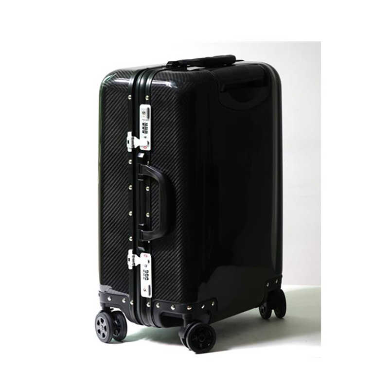 Travel Tale Carbon Fiber Cabin Suitcase Hand Luggage Super Light Spinner 20 Carry On Travelling Trolley Bag