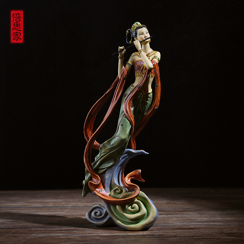 Resin Furnishing Buddhist Mood Home Decorations Curio Shelves Living Room Study Office Classical Retro Creative Craftwork