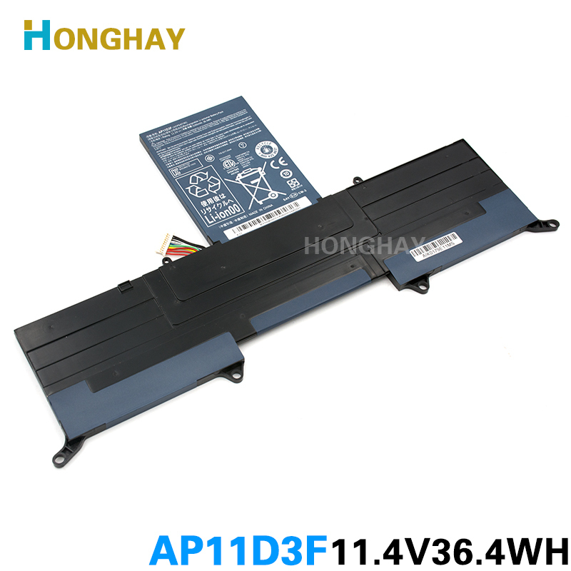 HONGHAY New <font><b>AP11D3F</b></font> Battery For Acer Aspire S3 S3-951 S3-391 MS2346 <font><b>AP11D3F</b></font> AP11D4F 3ICP5/65/88 3ICP5/67/90 11.1V 3280mAh image