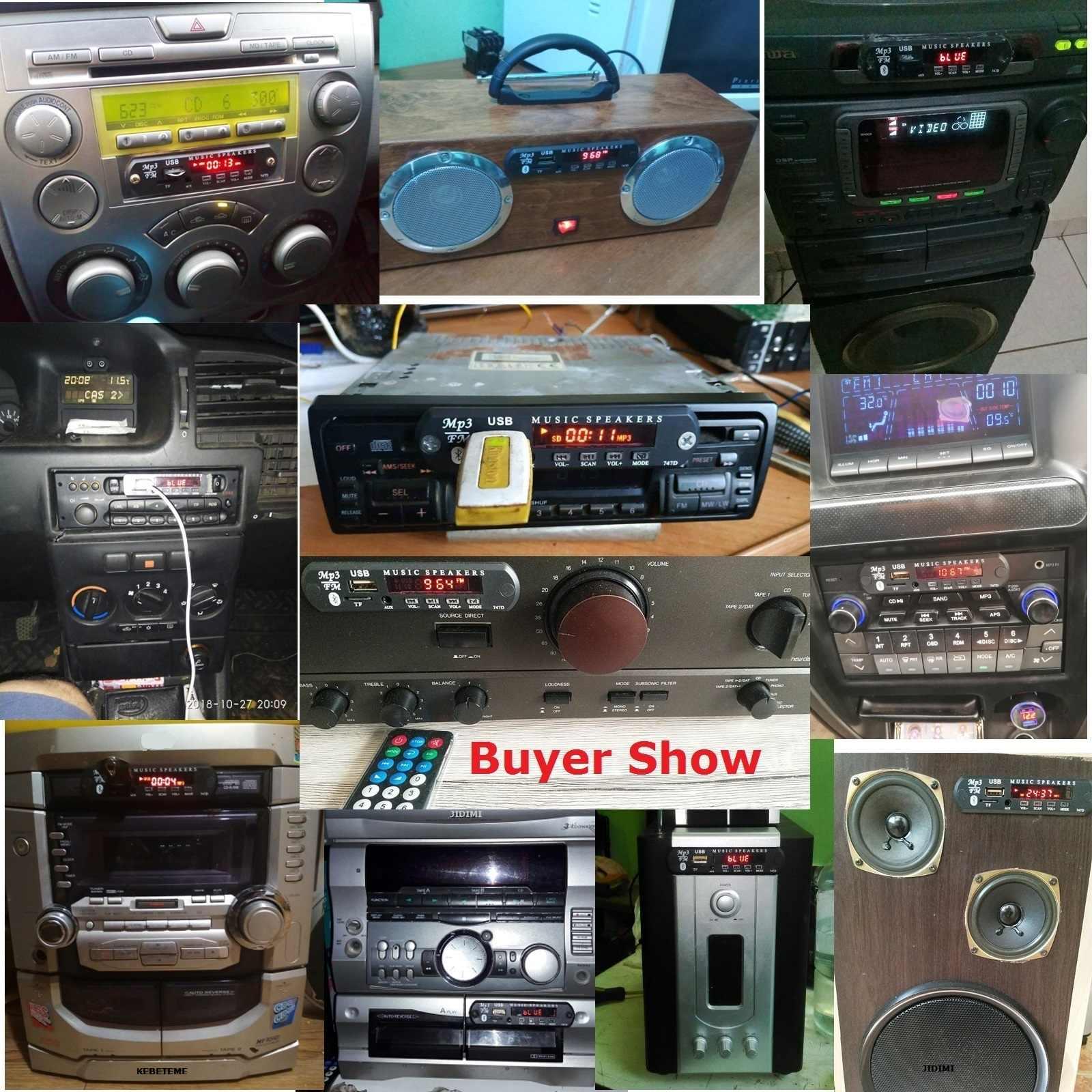 Bluetooth цветной экран MP3 автомобильный комплект 12 в MP3 WMA декодер плата модуль USB TF беспроводной аудио приемник fm-радио DIY музыкальный плеер