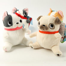 Japanese popular sitting cute dog plush doll toy pendant bag hanging ornaments 11cm wj01(China)