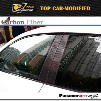 Free shipping Carbon B-Pillar Door Middle Pillars Panel for Porsche Panamera