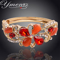 YMENGZ Colorful Women Cuff Bracelet Gold Plated Women Summer Bangle High Quality Austrian Crystal Bohemia Style Bangles