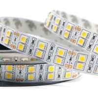 DC12v 120leds/m led strip 5050 5m/reel double row warm white/white led tape light Non waterproof lighting indoor decoration home