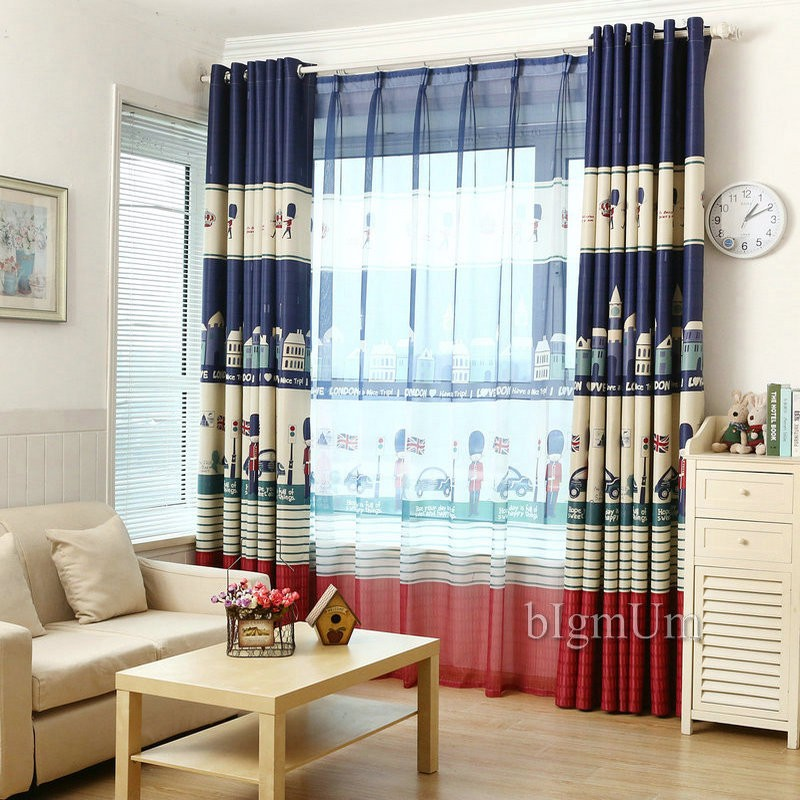 Cartoon Knight Printed Boy Curtain Blackout Curtains For The Baby Room  Window Curtains For Living Room
