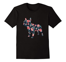 French Bulldog Roses , Floral Design T-Shirt  Free shipping newest Fashion Classic Funny Unique gift