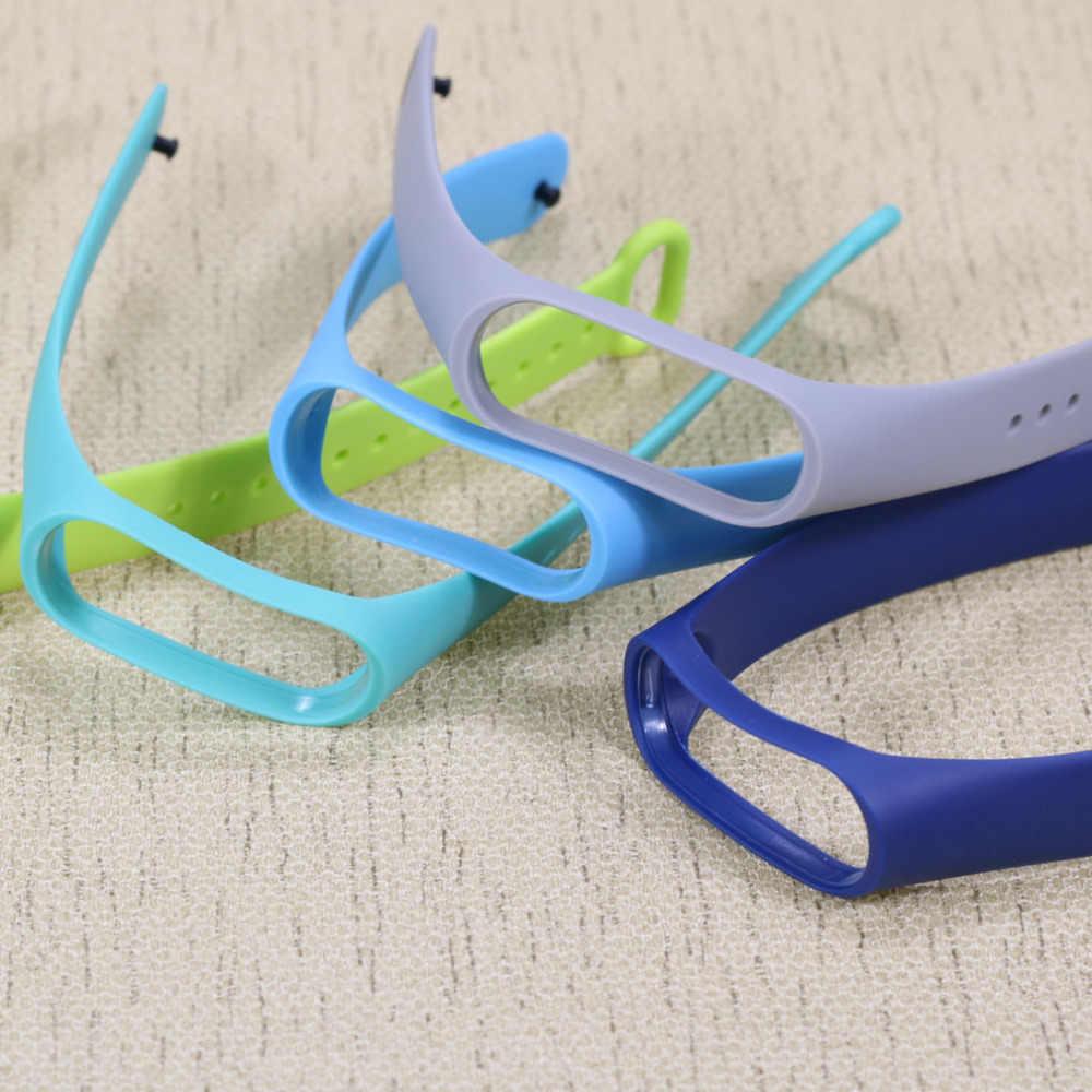 Siliconen Polsband voor Xiao mi mi band 3 Accessoires armband Voor Mi band 3 voeg 2 stuks Film smartwatch voor Xao mi mi band 3