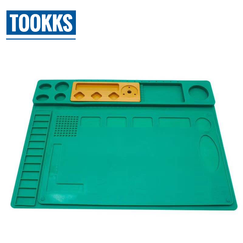 купить High Temperature Resistance Insulation Rubber Mat Workbench Mobile Phone Maintenance Pad with Microscope Base Platform недорого