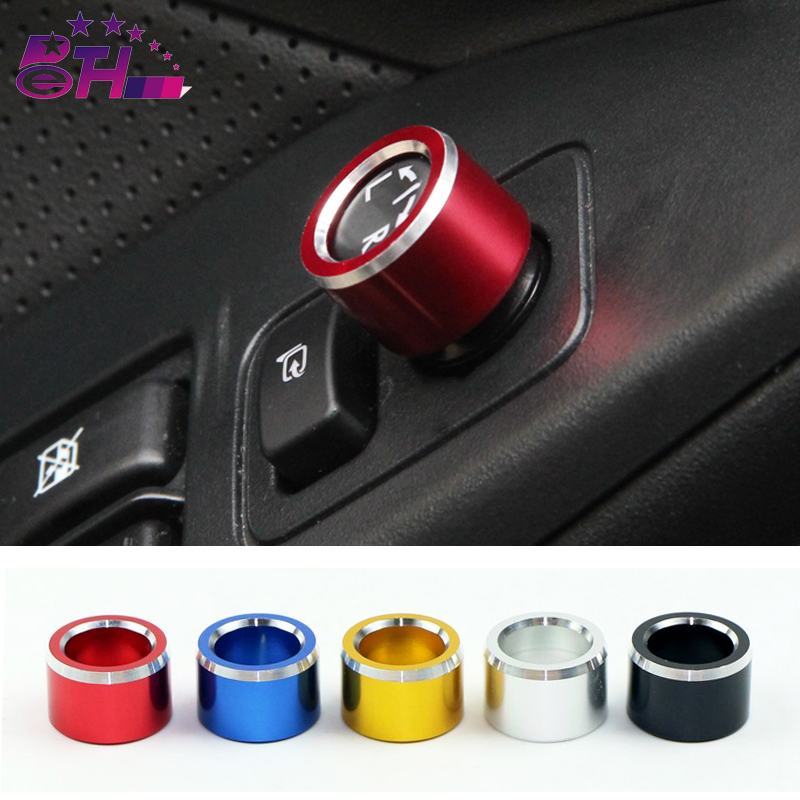 1pcs Rearview Mirror Push-button Knob Control Switch Rear View Mirror Adjust Knob Cover For Subaru XV Forester Outback 2015 2016