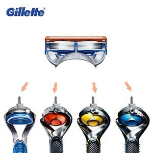 Image 4 - Gillette Fusion Scheermesjes Voor Mannen Razor Scheerapparaten Meer Glad ProGlide Proshield Veiligheid Scheermes Vullingen
