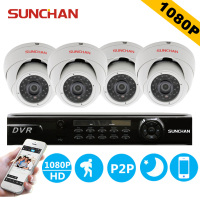SUNCHAN HD 4CH AHD H CCTV System Home Surveillacne DVR Kit Video Recorder 1080P 4x2 0MP