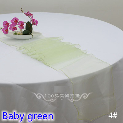 Baby Green Colour Organza Table Runner Crystal Organza Table Decoration  Wedding Hotel Home Banquet Party Tablecloth