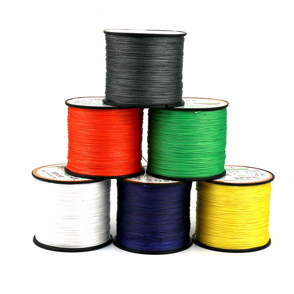 LumiParty Strands Braided Fishing line 500m Multi Color Super Strong ...