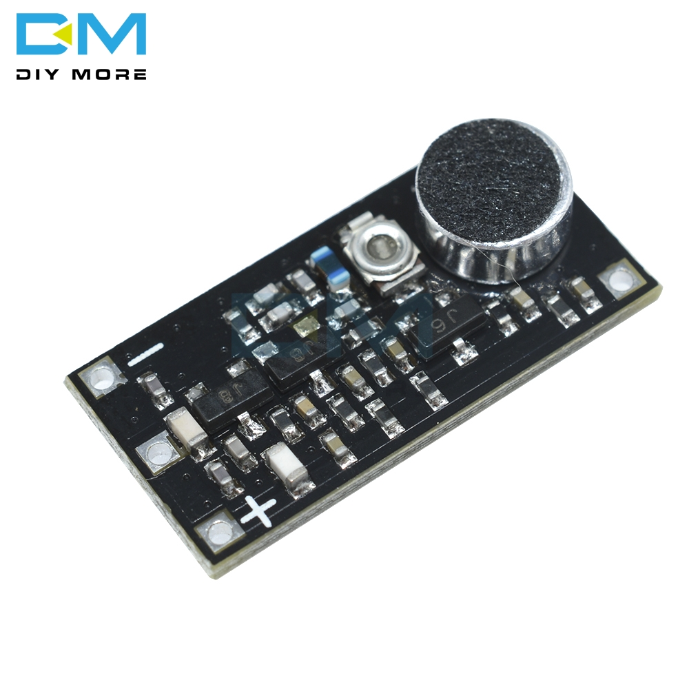 88-115MHz FM Wireless Microphone Surveillance Transmitter Module Board For Arduino Adjustable Capacitor DC 2V 9V 9mA Voltage(China)