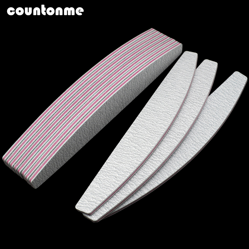 5pcs Professional Nail File Sanding Buffer Block 100/180 UV Gel Polish Salon Nails Accessoires Supplier Lime A Ongle Grey Boat