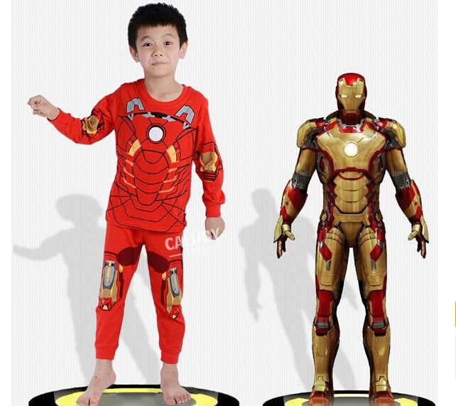 Boys Geyim dəsti uşaq pijama Spiderman Ironman paltar dəsti - Uşaq geyimləri - Fotoqrafiya 5