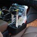 Asiento de coche de hendidura de la guantera del coche guantera con sostenedor de taza de agua suministros de automoción coche de basura caja de almacenamiento