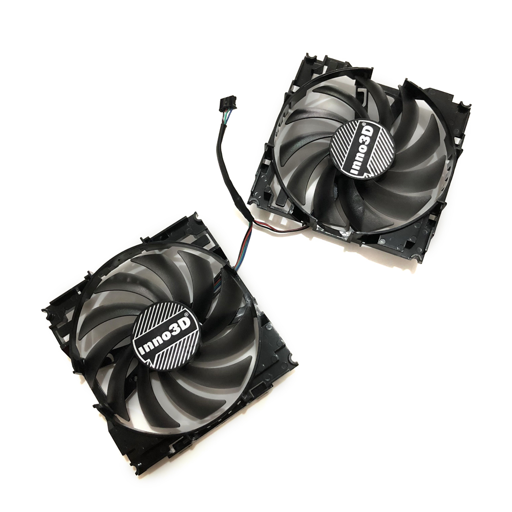 US $24 5 30% OFF|2pcs/set CF12915S InnoVISION GTX1060 GPU VGA Card Cooler  Fan For INNO3D GEFORCE GTX 1060 6GB X2 Graphics Card As Replacement-in Fans
