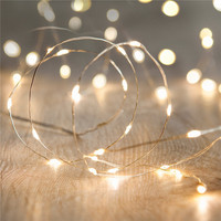 2 Packs Battery Operated Fairy Lights With 15 Micro Warm White LEDs On Copper Wire