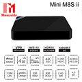 Mini M8S II Caixa de TV Inteligente Android 6.0 Caixa De TV 4 K Amlogic S905X Quad Core 2.4 GHz WiFi Bluetooth 4.0 2 GB 8 GB Mini M8S 2 Conjunto Superior caixa