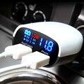 5 В 3.4A Smart LED Дисплей Двойной Автомобилей USB Зарядное устройство Для iPhone 6 6 s Плюс 5 5S 4 4S iPad Samsung Смартфонов Tablet Notebook ПК