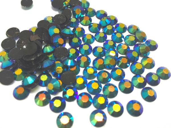 5 mm geléia azul metálico AB cor SS20 strass resina cristal flatback, Nail Art strass, 30,000 pçs/saco
