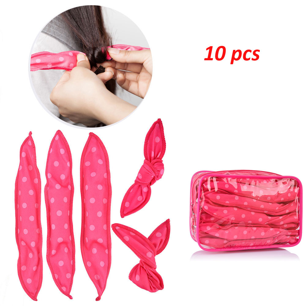 10PCS/lot Magic Sponge Pillow Soft Hair Roller Best Flexible Foam And Sponge Hair Curlers DIY Styling Hair Rollers Curl Tools