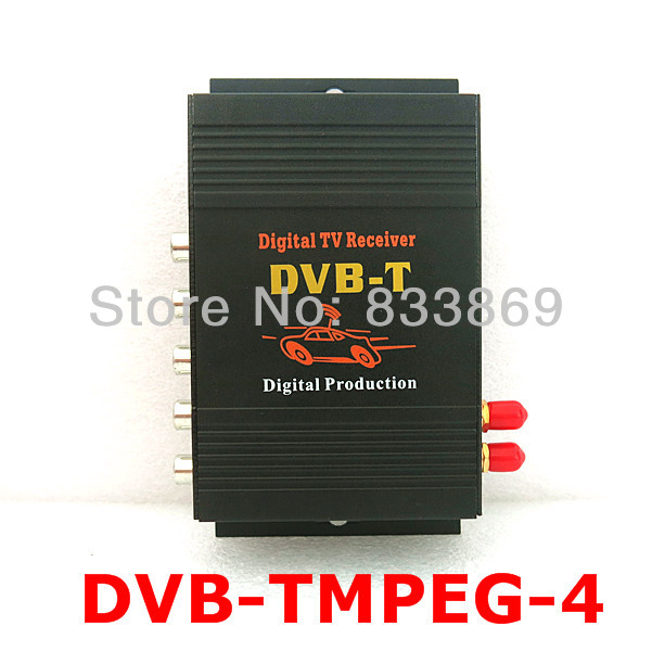2 Antenna Car DVB-T MPEG-4 Digital TV Dual Tuner TV Receiver TV Box For Car DVD Monitor With 4 video output Antenna Amplifier