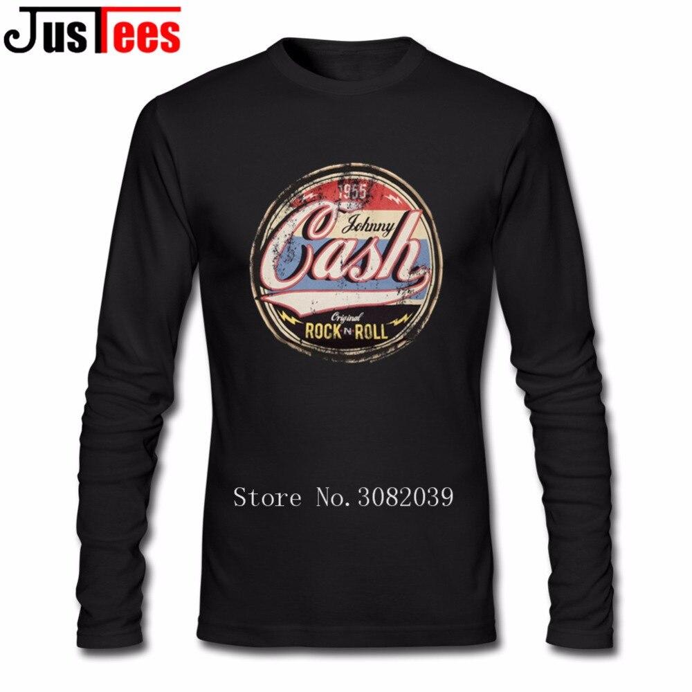 Hommes Équipée de Streetwear T-shirts Johnny Cash Casual Rock N Roll Hommes Pleine Manches T-shirt