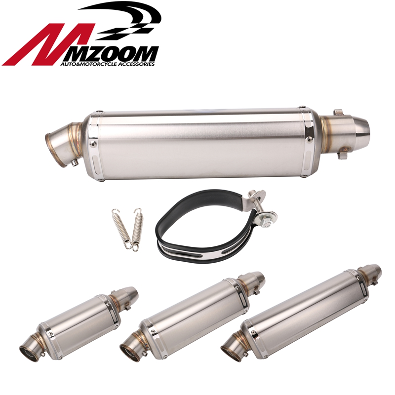 Universal Motorcycle Exhaust Muffler Pipe Escape Moto CB400 CBR125 CBR600 YZF Z750 Z800 Z1000 TMAX530 MT07 mokali tubo escape moto universal refires cb400 cbr29 motorcycle modified exhaust end to end exhaust pipe escapamento motocross