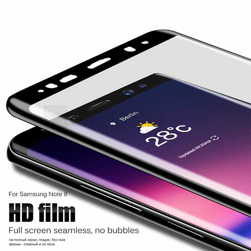 Glass Full Cover For Samsung Galaxy S8 S9 Plus A6 A8 Plus 2018 Note 8 S6 S7 Edge Screen Protector Scratch Proof Protective Film