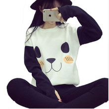 Panda Printed Pullover for Women