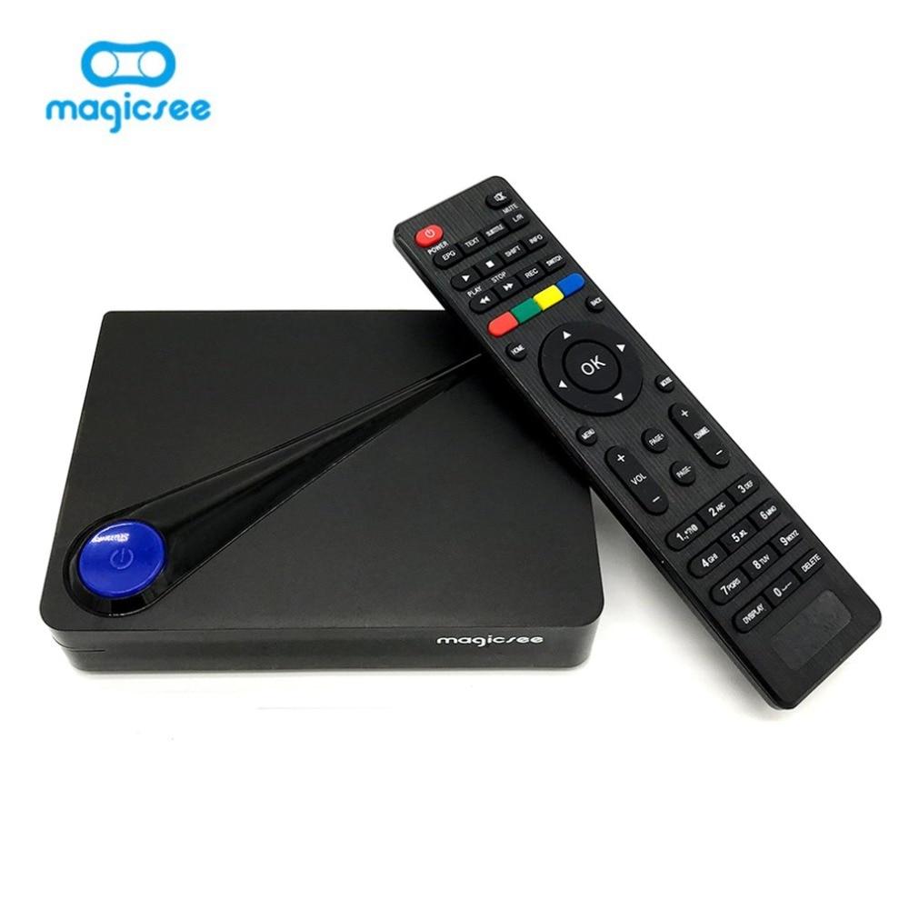 лучшая цена Magicsee C300 Pro Amlogic S912 Octa Core TV Box 2+16GB Android 7.1 4K Smart TV Box DVB-S2 T2 Cable 2.4G WiFi Smart Media Player