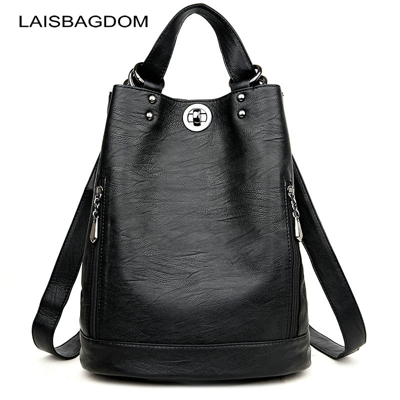 Women Backpacks Leather Female Travel Shoulder Bag High Quality Women Bag Fashion PU Leather Backpacks for Women School Bags 1