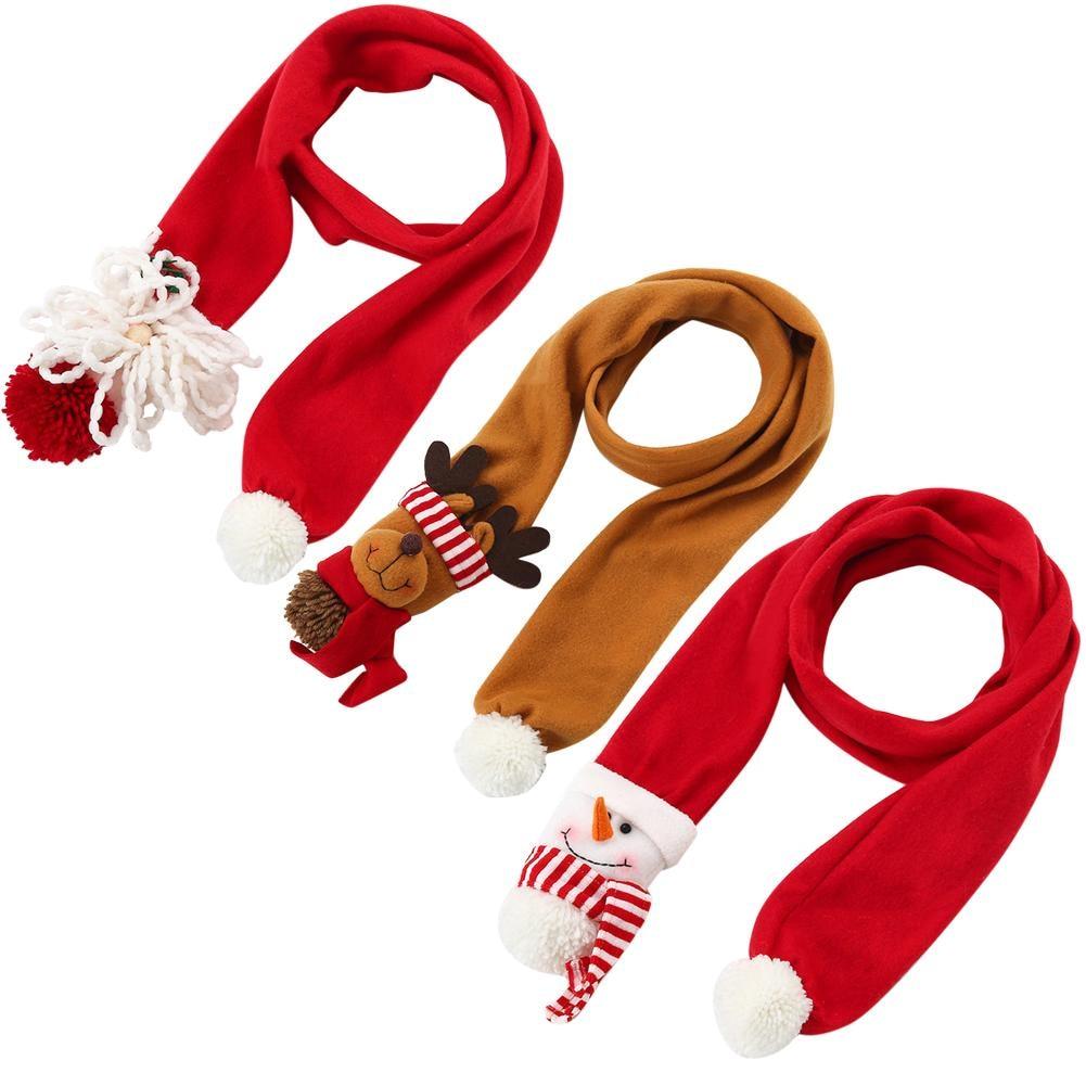 2018 New Design Red Yellow Autumn Winter Women   Scarf   Christmas Santa Snowman Deer Shawl Lady   Scarves     Wraps   Retro