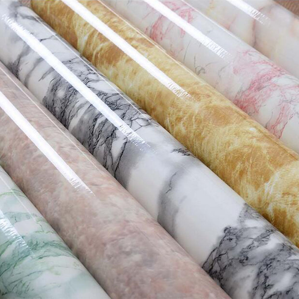 8 colors 61cmx20m marble waterproof vinyl self adhesive wallpaper sticker modern contact paper. Black Bedroom Furniture Sets. Home Design Ideas