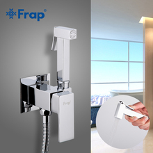 FRAP Bidet Faucets bathroom shower wall mounted bidet toilet faucet shower hygienic crane square bidet mixer portable sprayer все цены