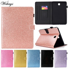 Wekays For Samsung Tab A T350 Glitter Bling Leather Fundas Case sFor Samsung Galaxy Tab A 8.0 T355 T350 T351 Tablet Cover Cases цена 2017