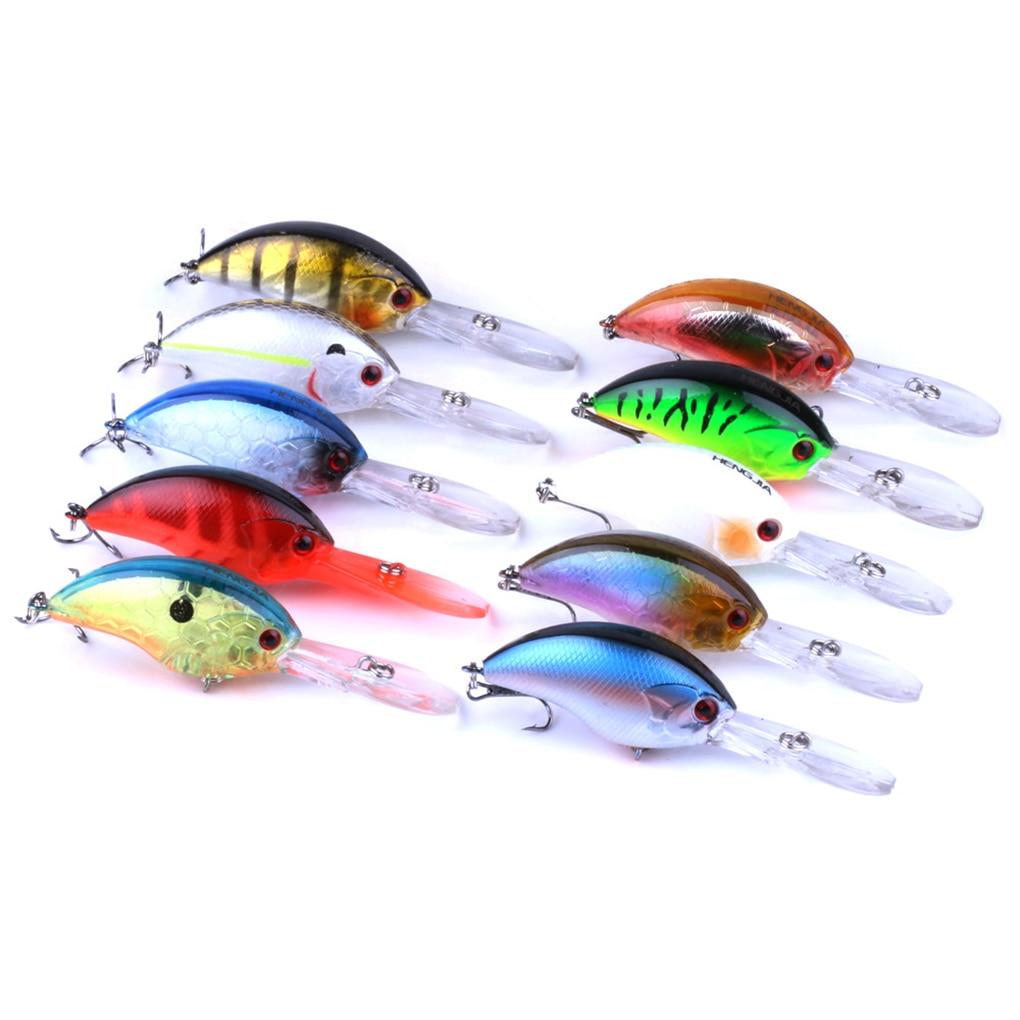 Lifelike Rock Fishing Lure Compact Deep Swimming Crankbait Hard Bait 10 Colors Wobbler Fishing Tackle 9CM