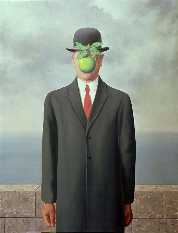 Rene Magritte Son of man giclee silk poster home decoration painting wall sticker