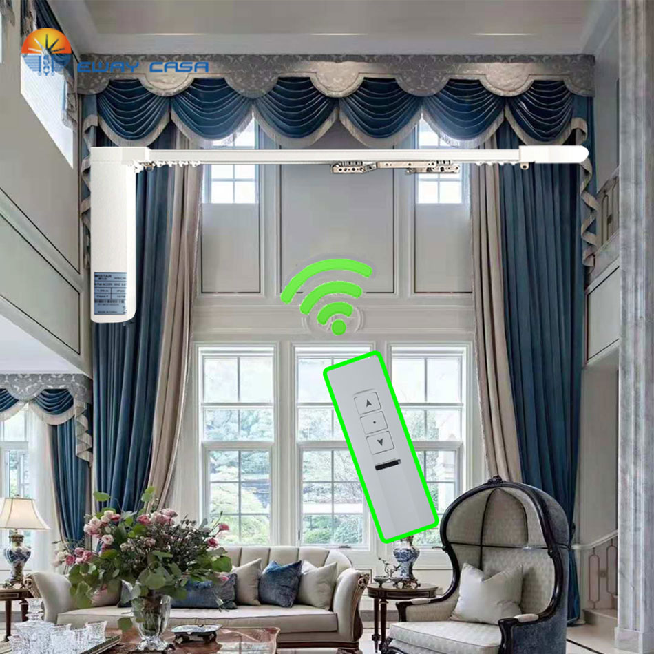 EWAY CASA Customized Motorized Motor Automatic Rail Electric Curtains Track For Smart