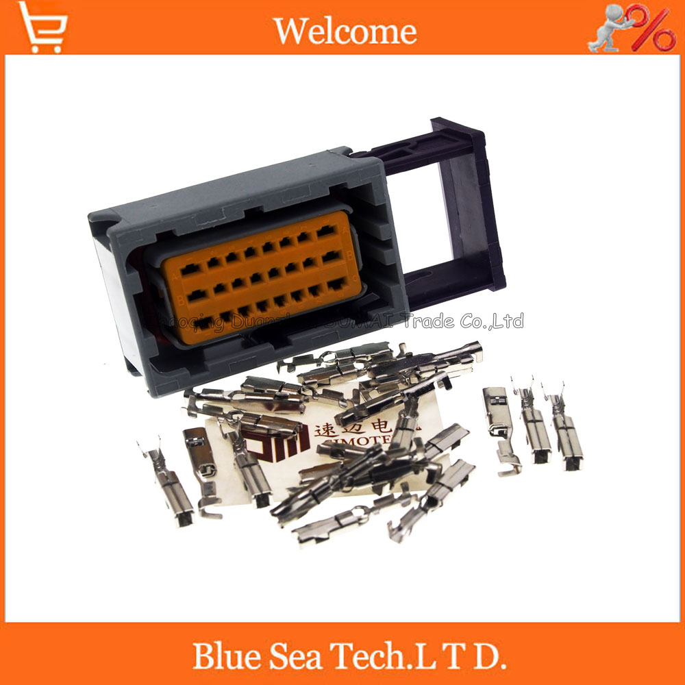 24 Pin/way female car oil-modified gas computer board CNG connector,Auto ECU plug for VW Audi BMW Toyota etc.Grey free delivery car engine computer board ecu 0261208075