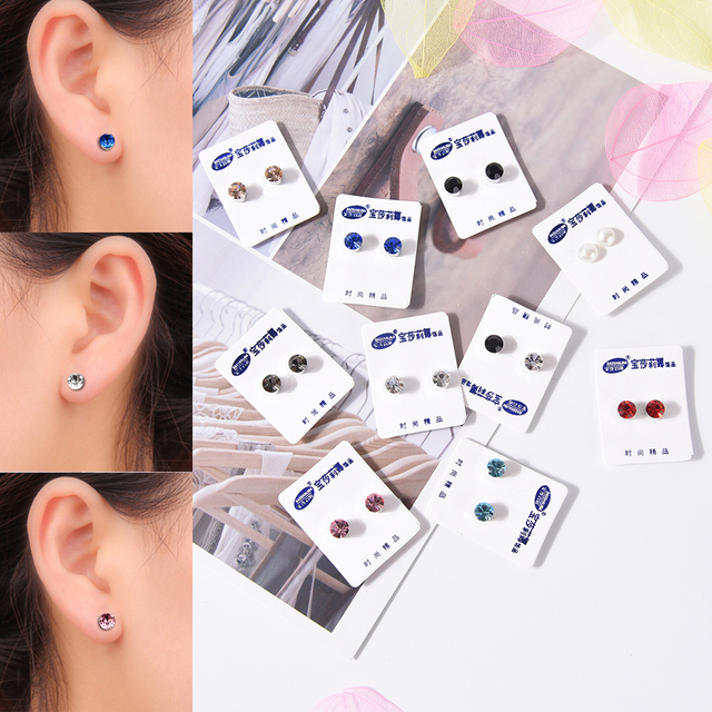 1 Pair Bio Magnetic Therapy Weight Loss Earrings Magnet In Ear Eyesight Slimming Healthy Stimulating Acupoints