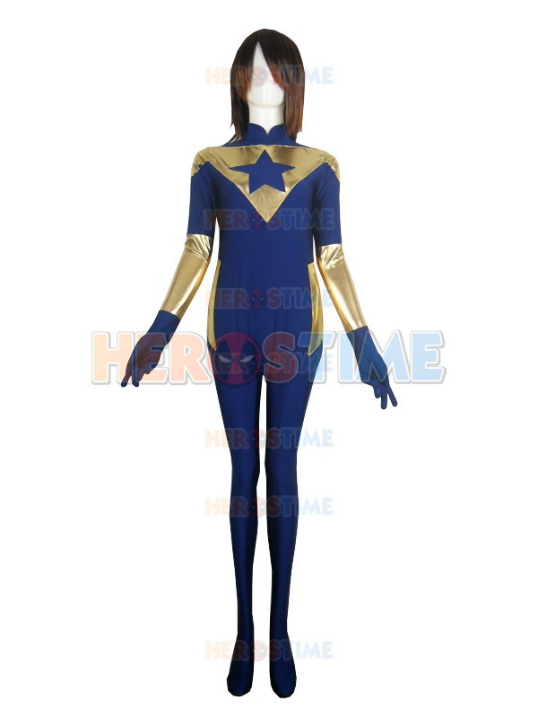 Booster Gold Film Version Costume Spandex halloween cosplay superhero costume adult The most classic zentai suit