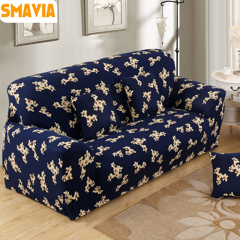 Smavia New Style Sofa Cover 100 Polyester Stretch Elasticity Towel Single Chair Love Seat L Shaped Recliner Slipcovers