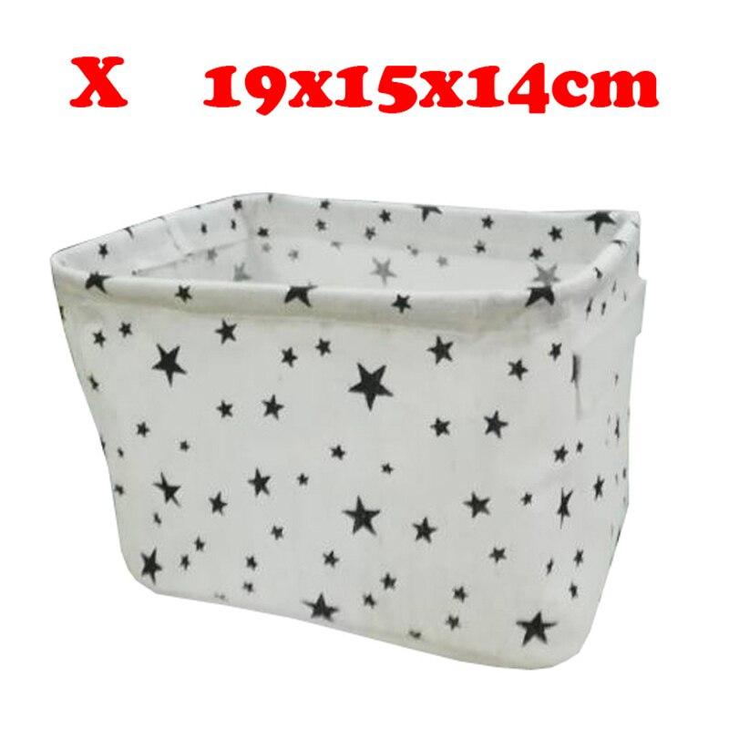 Настольный ящик для хранения с милым принтом, водонепроницаемый органайзер, хлопок, лен, корзина для хранения мелочей, шкаф, нижнее белье, сумка для хранения - Цвет: X