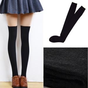 Image 4 - 新しい秋のファッションセクシーなレースストッキング暖かい腿の高ストッキングオーバーニーソックスストッキングガールズレディース女性暖かいタイツ