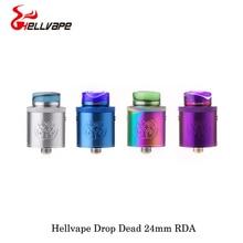 electronic cigarettes Hellvape Drop Dead 24mm RDA With Resin Driptip Single/Dual Coil Builds For Squonkor Bod Mod Vape Vaporizer