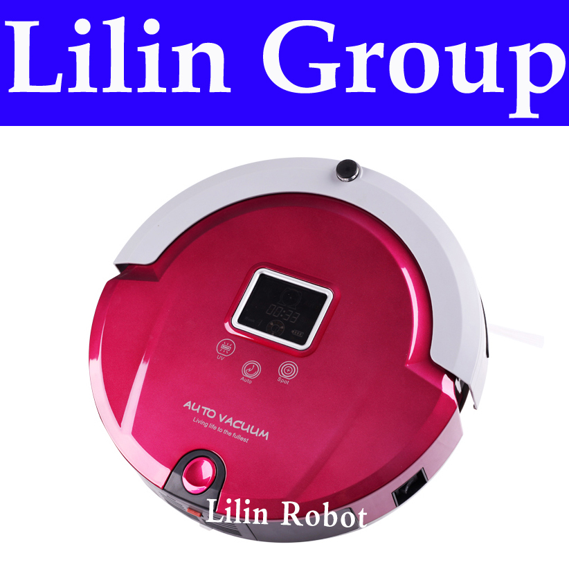 4 In 1 Multifunctional Floor Cleaning Robot (Sweep,Vacuum,Mop,Sterilize),LCD,Touch Button,Schedule Work,Auto Charge liectroux robot floor cleaner multifunction sweep vacuum mop sterilize touch screen schedule side brush autorecharge virtual